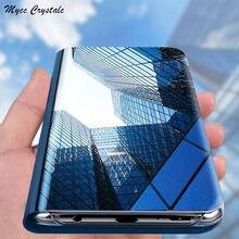 Oppo encontrar x2 pro caso 6.78 polegada de luxo espelho inteligente flip capa proteção completa para oppo encontrar x2 pro caso telefone à prova choque