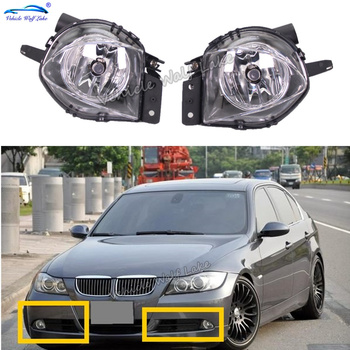 Car Light For BMW E90 E91 2005 2006 2007 2008 Car-styling Front Bumper Halogen Fog Light Fog Lamp With Bulbs image