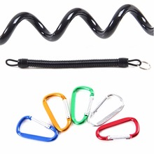 Rope Lanyards Fish-Pliers Secure Kayak with Carabiner-Rod Lip-Grips Tackle-Tools 2pcs