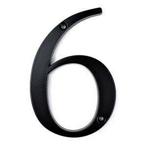 10cm Big Modern House Number Door Home Address Mailbox Numbers for House Number Digital Door Outdoor Sign 4 Inch. #6 Black