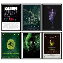 Alien Moive Poster Vintage Poster Wall Stickers For Home Bar Cafe 42X30cm худи print bar ом alien