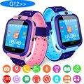 Q12 умные часы LBS Детские умные часы детские часы 1 44 дюймов голосовой чат gps локатор трекер анти потеря монитор с коробкой