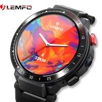 LEMFO-reloj inteligente LES4 para hombre, dispositivo con tarjeta SIM 4G, Android, procesador de 4 núcleos, Batería grande de 2021 Mah, 900