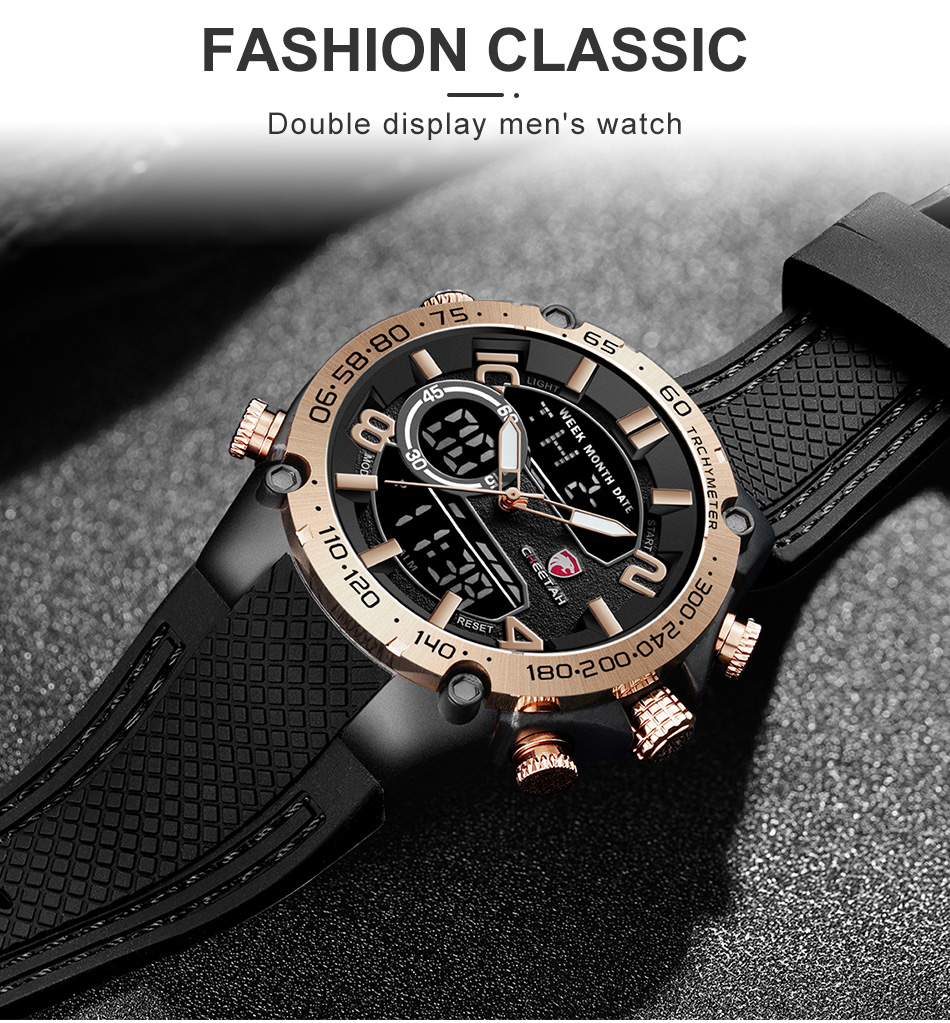 H6dfa142a3a134b12b490427ee4990e40d Top Luxury Brand CHEETAH Men Watch Fashion Sports Wristwatch Digital Quartz Analog Clock Waterproof Watch Men Relogio Masculino