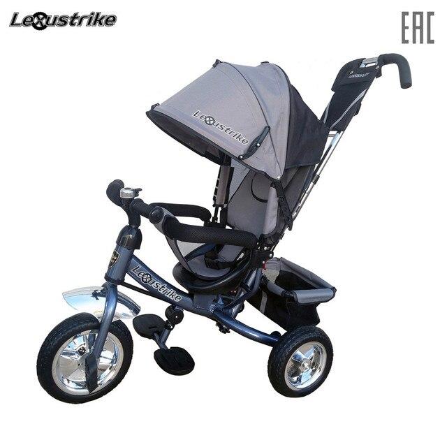 Велосипед детский 3-х колесный Lexus trike, колеса EVA 10 и 18, регулируемая спинка, задний тормоз, доставка от 2-х дней