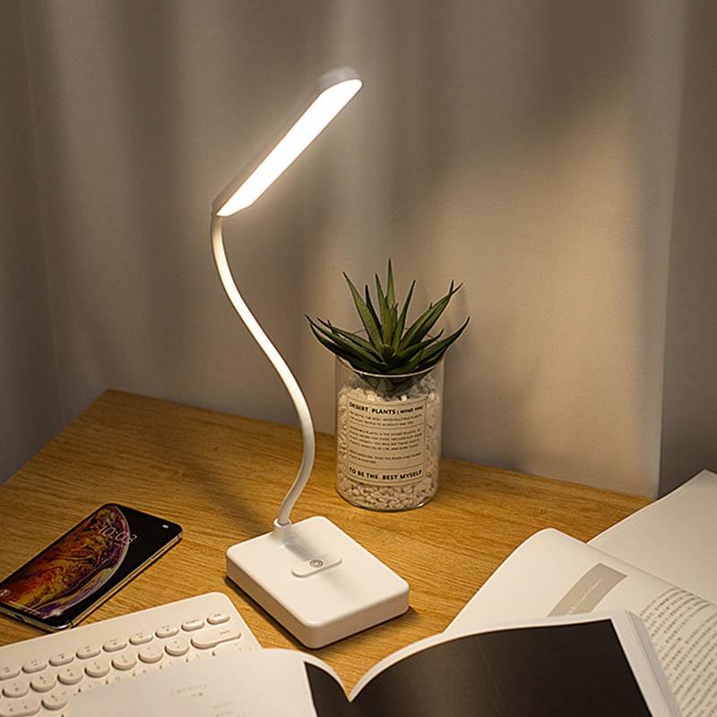 Desk Lamp Touch Table Lamps For Living Room Gooseneck Desktop Foldable Dimmable Eye Protection Study Lamp Led Light