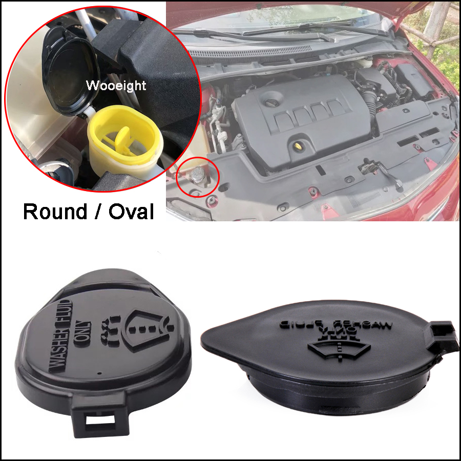 Car Round/Oval Windshield Wiper Washer Fluid Reservoir Tank Bottle Cap Lid For Toyota Corolla Vios Yaris RAV4 Highlander Venza image