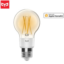 Новейшая умная Светодиодная лампа накаливания Yeelight E27, регулируемая яркость, энергосберегающая умная лампа для Apple Homekit