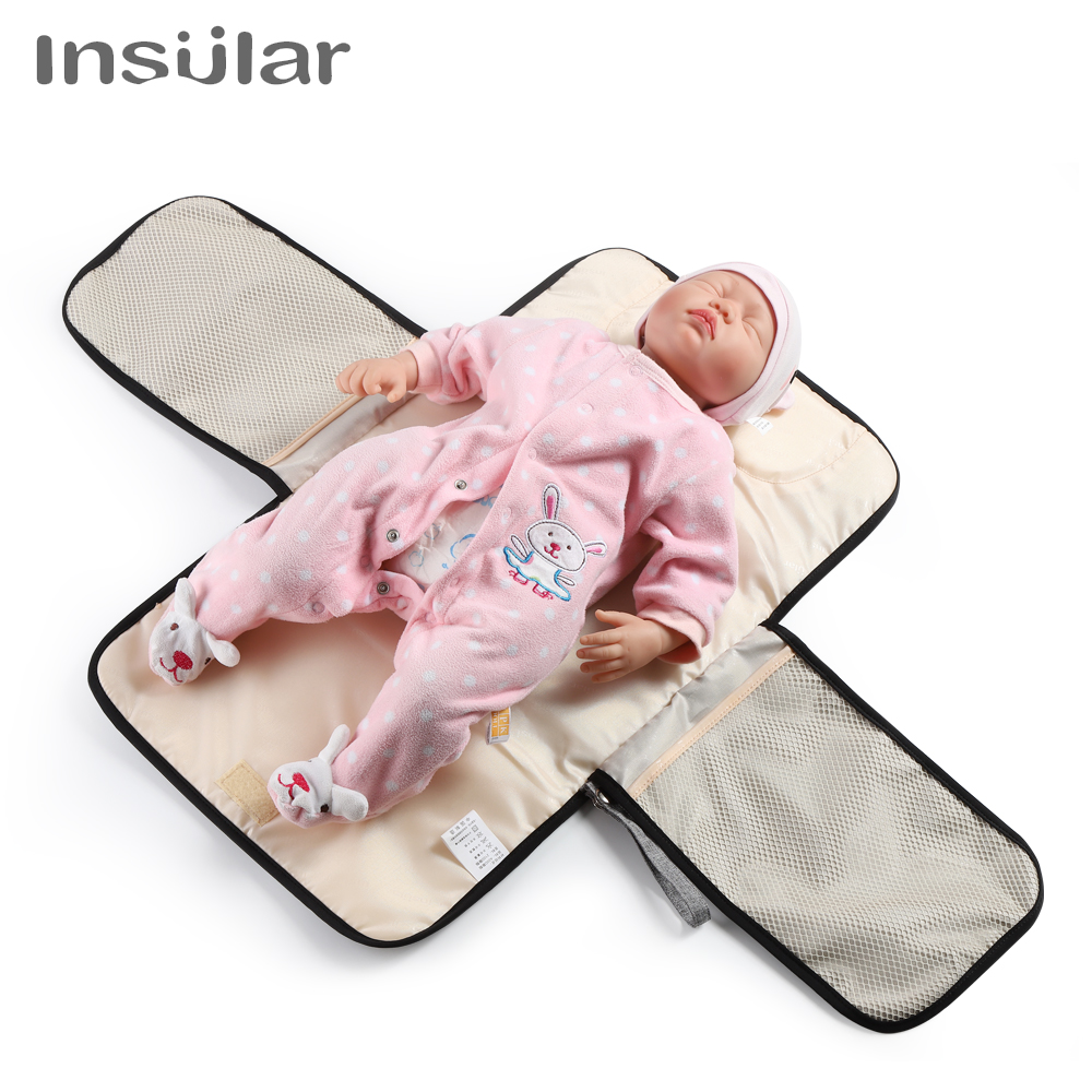 New Waterproof Changing Pad Newborns Baby Nappy Pad Multifunctional Portable Baby Diaper Clean Hand Cover Mat