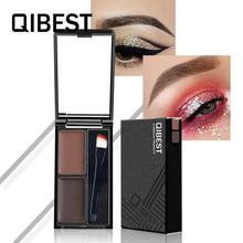 Palette Eyebrow-Powder Brow Shadow Qibest 5-Color Cosmetic Makeup Natural Long-Lasting