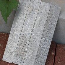 1 piece Varied DIY knife Making Damascus steel Rose Sandwich Pattern steel Knife blade blank Heat Treatment
