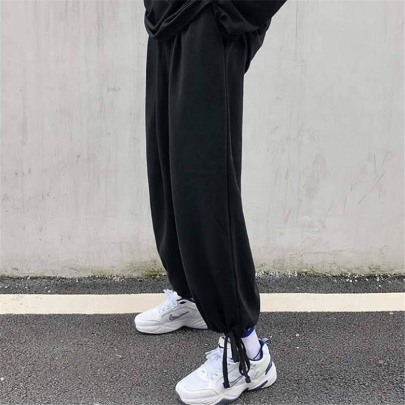 Spring Women high waist pants streetwear loose pants streetwear capris trousers Fashion Female male High Street Japan pants