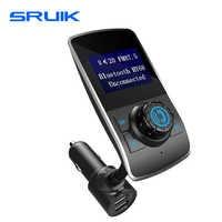 Wireless In-Car Bluetooth FM Transmitter/Modulator 1.44 Inch Display Radio Transmitter AUX Input Bluetooth Car Speaker Handsfree