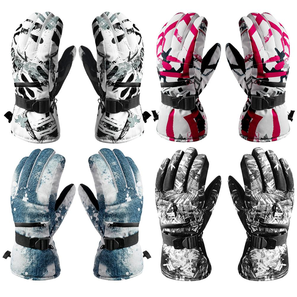 Durable Skiing Gloves Wear-resistant Winter Ski Snowboard Gloves Unisex Outdoor Glove For Riding Motorcycle Cycling