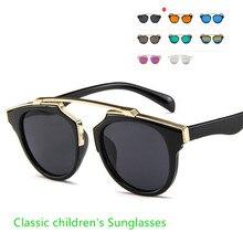 2021 винтажные детские солнцезащитные очки детские роскошные солнцезащитные очки детские модные очки UV400 для девочек и мальчиков женские/муж...