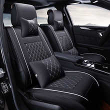 High quality Leather Car Seat Covers For Hyundai solaris ix35 i30 ix25 Elantra accent tucson 2016 car accessories car-styling for hyundai solaris hatchback special seat covers full set model turin eco leather