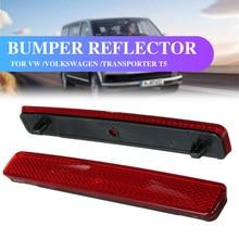 Vermelho traseiro esquerdo & direito pára-choques refletor cauda luz barras de freio estacionamento aviso para vw volkswagen transporter t5