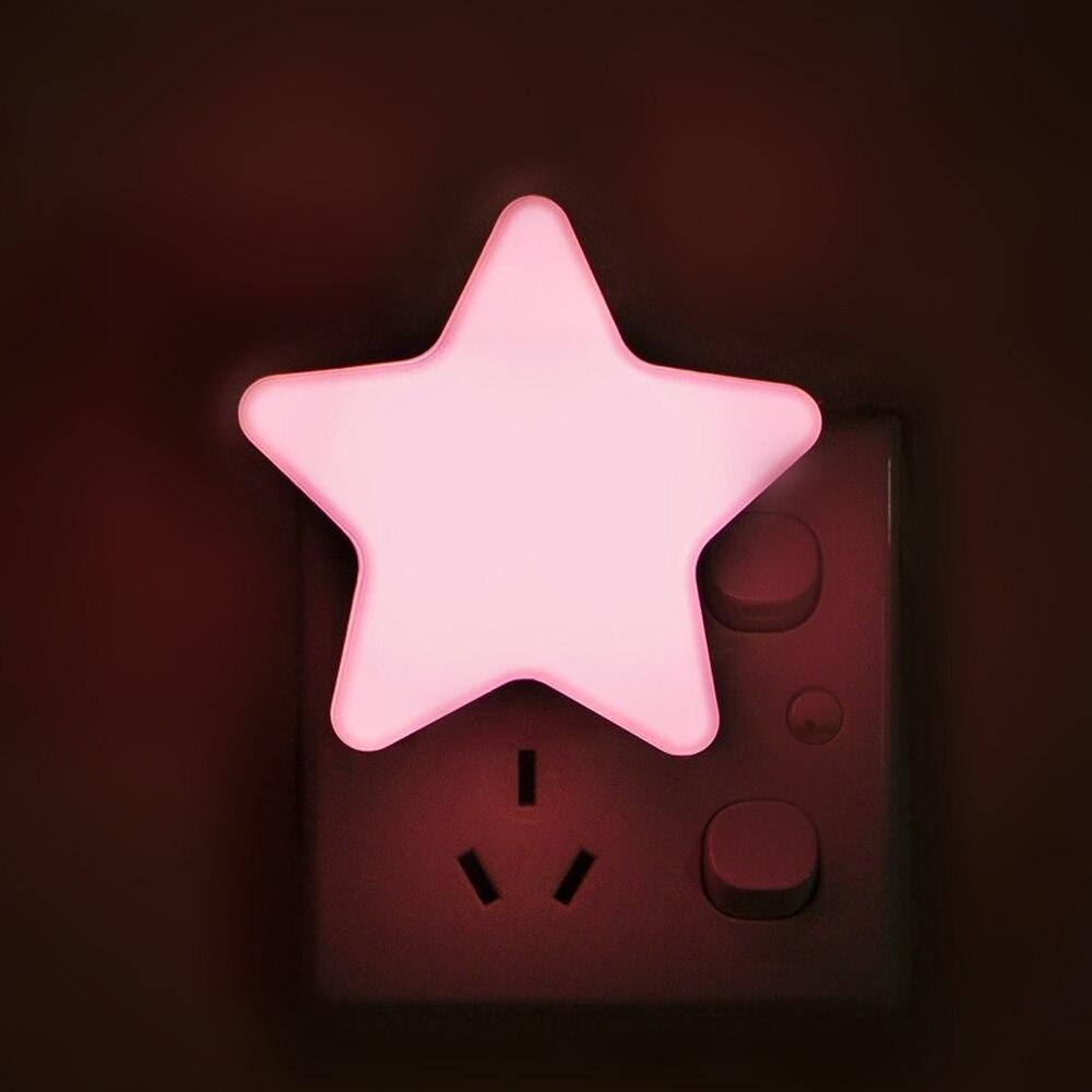 LED Night Light Mini Star Light Sensor Control EU/US Plug Bedroom Sleeping Lamp For Bedside Bedroom Night Lamp