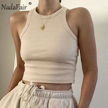 Nadafair Casual Sport Tank Tops Frauen Stretchy 2021 Sommer Ribber Solide Weste Y2k Shirts Weibliche Off Schulter Sexy Crop Tops cheap CN (Herkunft) Polyester NONE SHORT Altersgruppen 18-35 Jahre Alt Tank-Tops Gestrickt WOMEN Sexy Club Fest S M L 8 Candy Colors