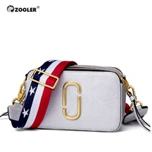 ZOOLER Pure leather handbag 2019 new shoulder Messenger bag female fashion wild texture first layer Small#GH208