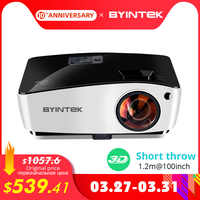 BYINTEK Short Throw Projector K5,4000ANSI, Full HD 1080P Video Proyector,DLP 3D Overhead Beamer For Cinema Daylight Education