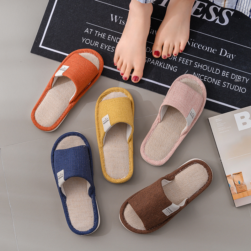 2019 New Slippers Household Four Seasons Men And Women Cotton Linen Winter Indoor Linen Home Soft Bottom Couple Slippers