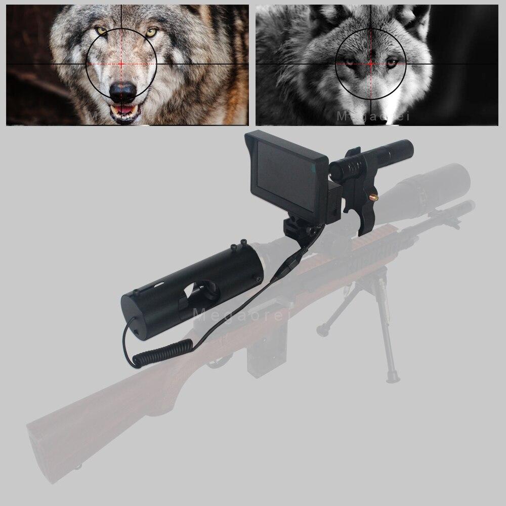 2020 Beste Sniper Outdoor Jagd Optic Anblick Taktische Zielfernrohr Infrarot nachtsicht mit LCD Für umfang Keine Batterie