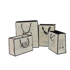 Image 4 - 사용자 지정 종이 가방 환영 가방 결혼식 사용자 지정 포장 가방 사용자 지정 선물 가방 종이 가방 로고 재사용 가능한 선물 가방