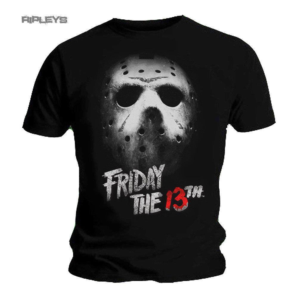 2019 Fashion  Black T Shirt FRIDAY 13th Slasher Horror MASK Jason Voorhees All Sizes Tee shirt