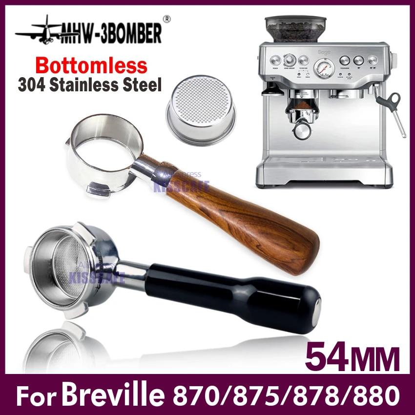 54mm Coffee Bottomless Portafilter For Breville 870//878//880 W// Filter Basket HOT