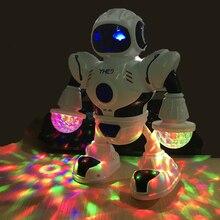 New Rotating Smart Space Dance Robot Electronic Walking Toys with Music Light Ki