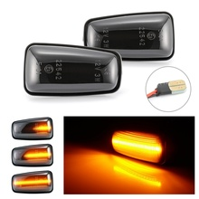สำหรับ Peugeot 306 106 406 806 Expert Partner สำหรับ Citroen Berlingo น่ากลัว Saxo Xantia XM LED แบบไดนามิกไฟเลี้ยวด้านข้าง marker LIGHT
