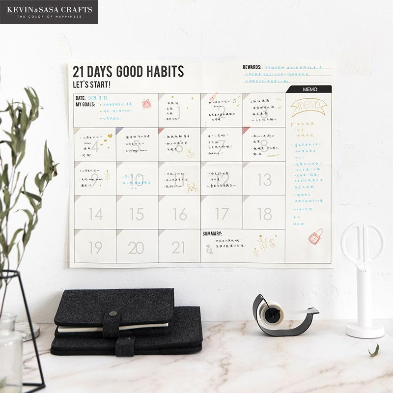 100 Day Agenda 2019 Planner Organizer Monthly Planner 2020 Office Supplies Wall Planner Organizer Table Office Table Accessories