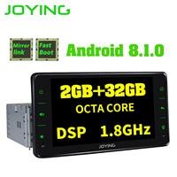 JOYING 6.2 inch car radio Android 8.1 Octa Core DSP mirror link head unit universal stereo support OBD/DBA+/DVR/Rear View camera