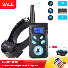Whistle Electric-Shock-Collar Bark Training Remote Anti-Abrasion with Free Buckle