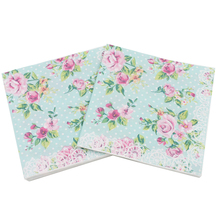 100 Pcs Printed Feature Rose Paper Napkins for Event Party Decoration Tissue Paper Towels Daily Necessities vintage printed rose flower dragonfly paper napkins for event