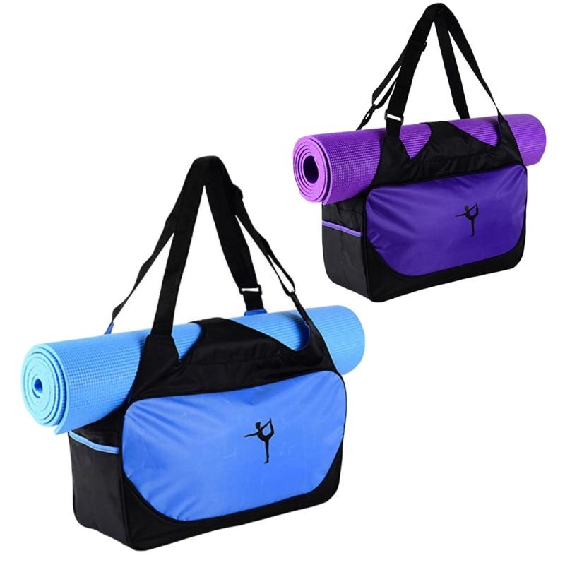 New 48x24x16cm High-capacity Yoga Mat Backpack Canvas Waterproof Yoga Bag Outdoor Handbag Sports Fitness Bags