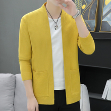 Sweaters Cardigans Knitwear Spring-Clothes Overshirt No-Buttons Men's Man Casual New