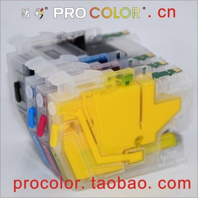 Completo lc3619 xl lc3617 recarga cartucho de tinta para o irmão mfc j3930dw j3530dw j2330dw j2730dw MFC J2330DW impressora a jato de tinta com chips