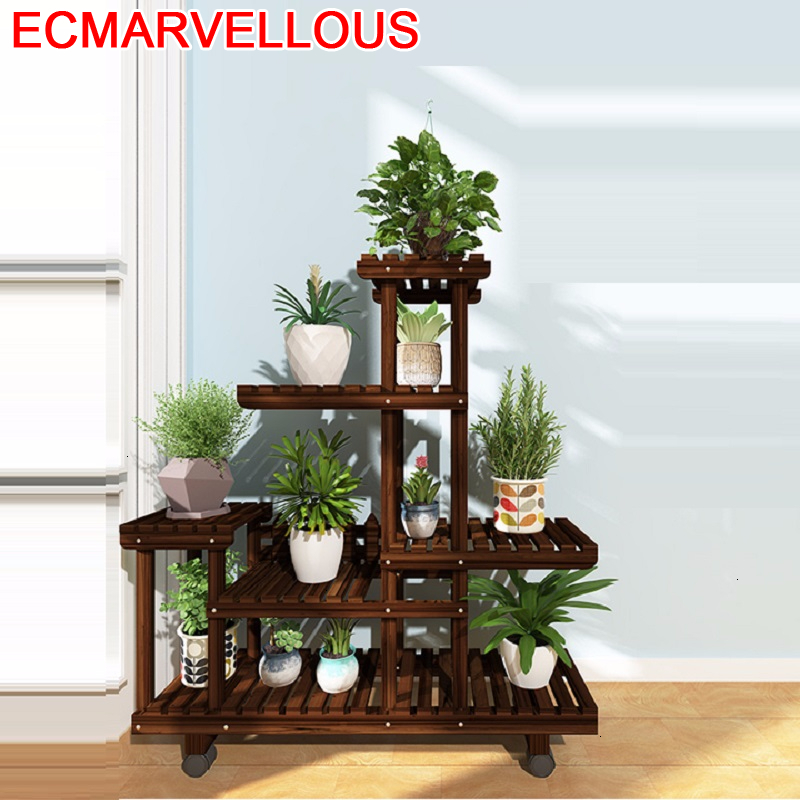 Rack Flores Estante Para Plantas Indoor Stojaki Living Room Wood Shelf Dekoration Outdoor Flower Stojak Na Kwiaty Plant Stand