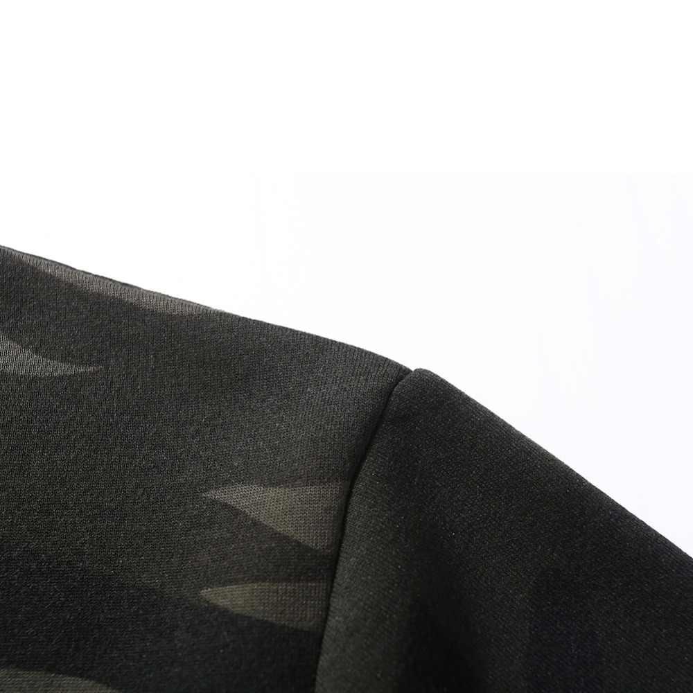 미국 크기 사이드 버클 리본 위장 후드 2019 망 힙합 캐주얼 카모 풀오버 후드 티 스웨터 패션 남성 streetwear