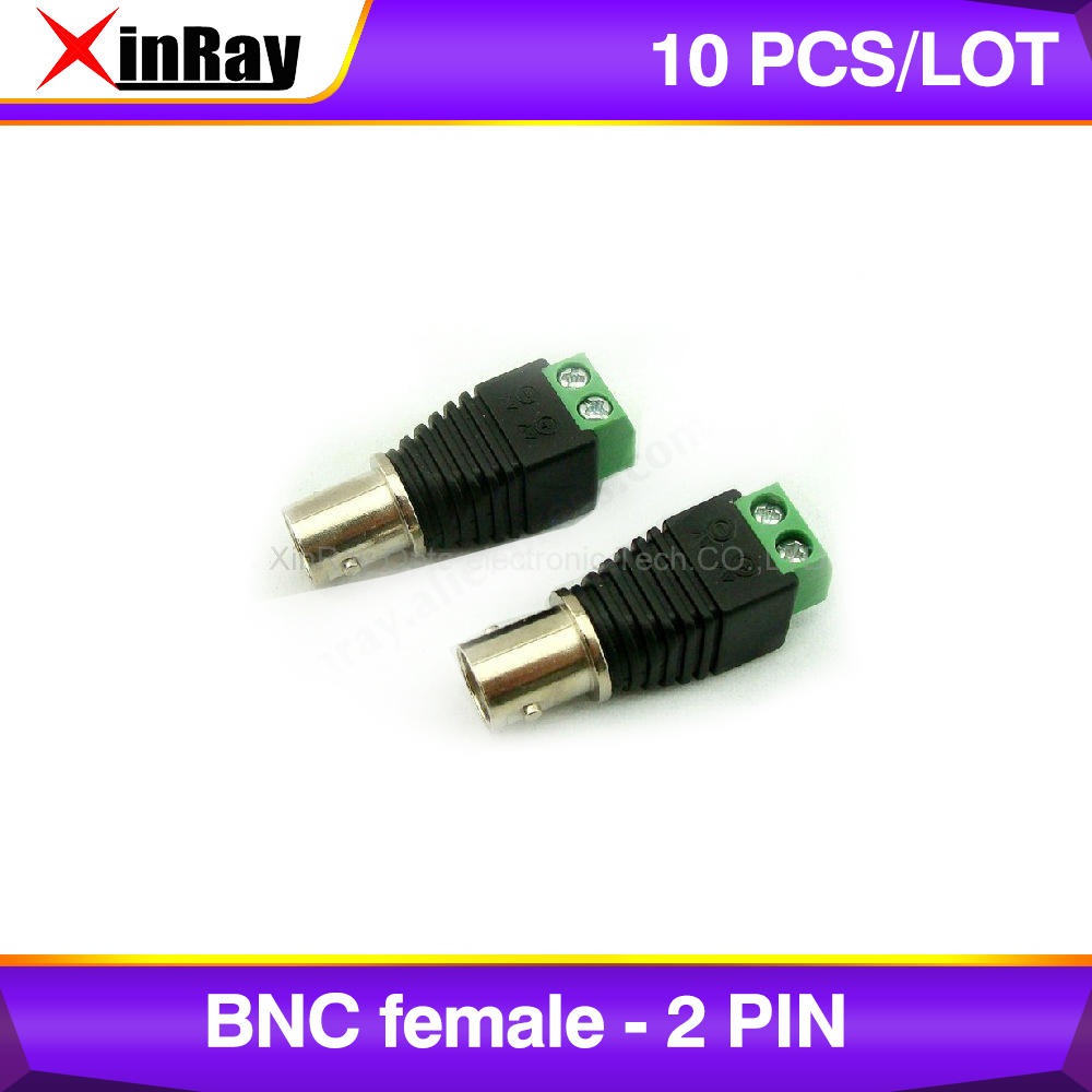 Free Shipping 10pcs BNC Female TO 2 Pin,Camera DVR Connector Adapter,CCTV Accessories ,Wholesale XR-AC25.