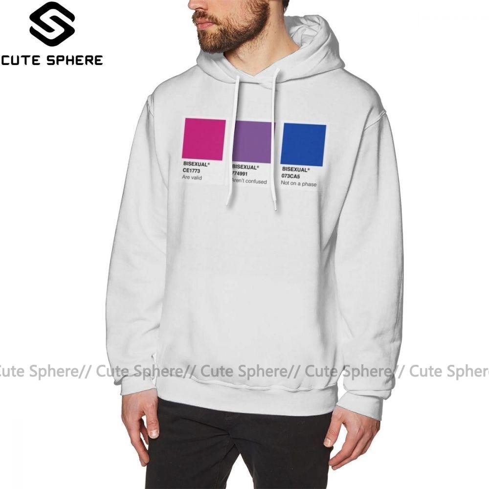 Bisexual Hoodie Bisexual Hoodies Streetwear Cotton Pullover Hoodie Grey X Long Male Winter Casual Hoodies