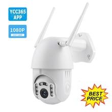 YCC365 Auto Tracking Waterproof  HD IP Camera Outdoor 1080P Speed Dome Surveillance Cameras WiFi Wireless Security CCTV Camera
