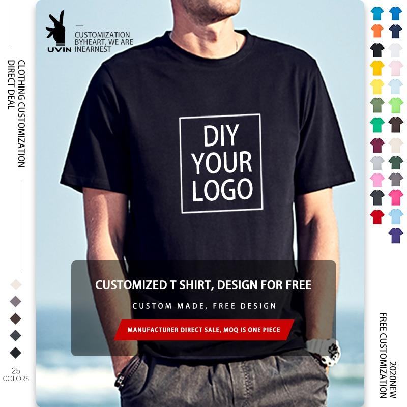24 цвета, чтобы выбрать дизайн ваш собственный логотип/изображение на заказ мужские и женские «сделай сам» хлопковая футболка с короткими ру...
