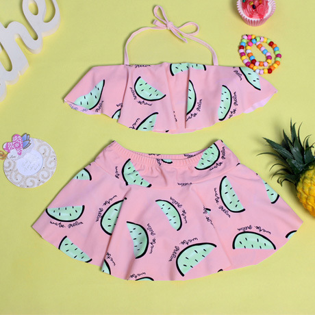 Place Of Origin Supply Of Goods KID'S Swimwear Cute Watermelon Pattern Children Two-piece Swimsuits Children Bikini Bathing Suit