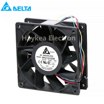 for delta PFC1212DE 120*120*38mm 12V PWM 4-pin 252.8 CFM 5500 RPM66.5 dB(A) For Bitcoin GPU miner powerful cooling fan 1