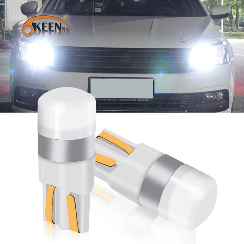 Светодиодная лампа для чтения OKEEN T10 W5W 3030 SMD, автомобильный внутренний купол автомобиля, дверь, фонарь для багажника 6000K