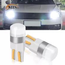 OKEEN T10 W5W LED 자동차 통관 조명 독서 램프 3030 SMD 자동 인테리어 차량 돔 문 전구 액세서리 트렁크 라이트 6000K
