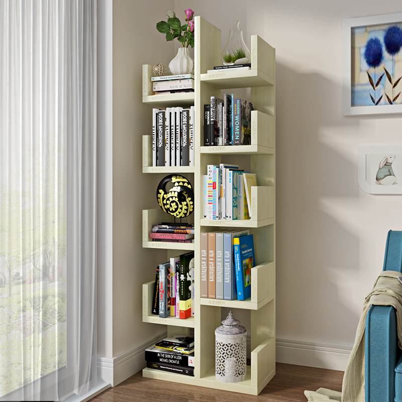 Creative Tree-Shaped Student Bookshelves On The Ground